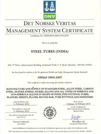 OHSAS 18001 Certified